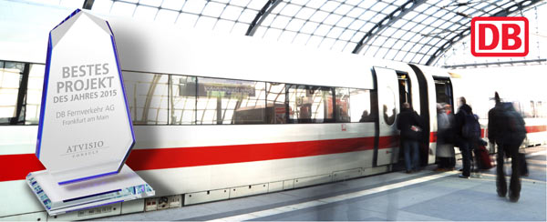 Deutsche Bahn gewinnt den ATVISIO Award